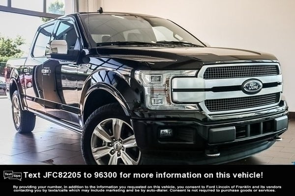 Ford F-150 Platinum For Sale >> 2018 Ford F 150 Platinum